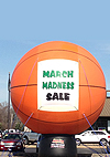 Basketball Shape Outdoor Advertising Balloons